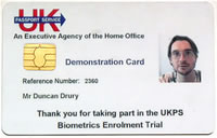 UK's Trial Biometric Passport Card